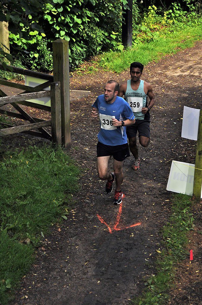 Arrow points the way for Run Jericho runners