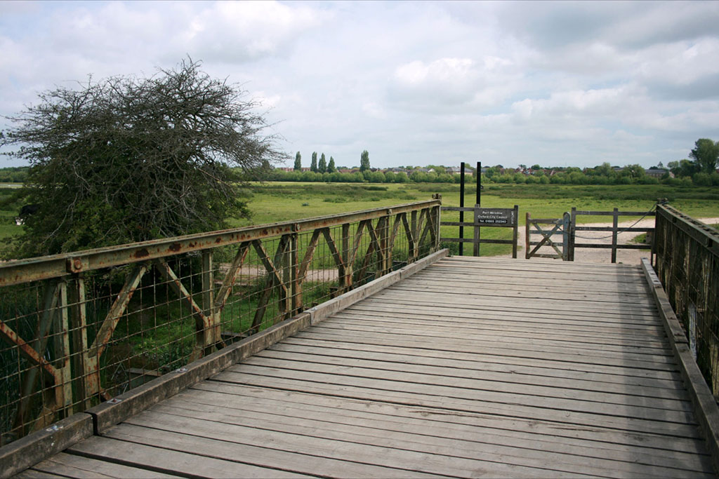 Run Jericho route over the bridge at Port Meadow