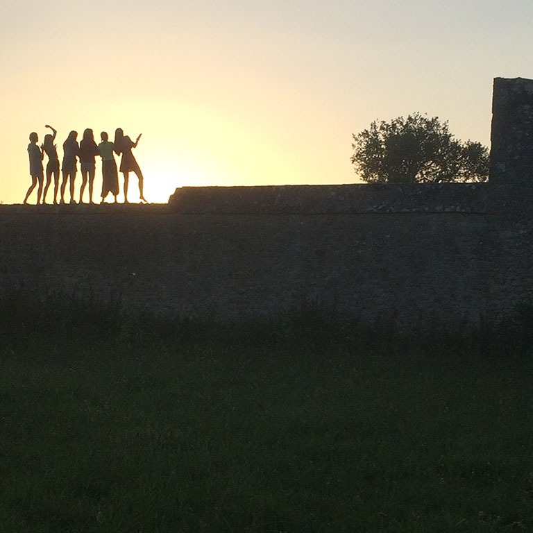 Silhouettes of Run Jericho volunteers